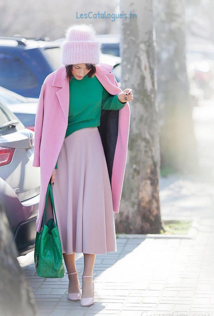 manteaux-femme-hiver-2017-joli-manteau-long-rose-pour-femme-modele-hiver-2017-694x1024