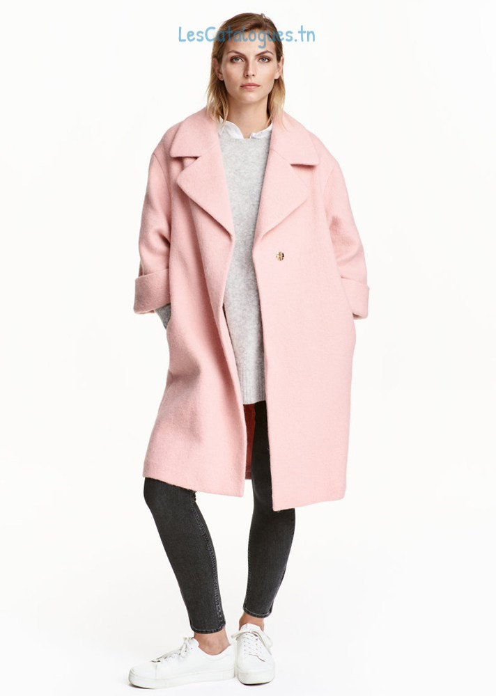 manteaux-femme-hiver-2017-manteau-long-rose-pour-femme-tendance-hiver-2017