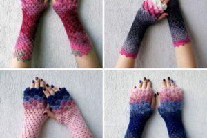 gants de dragon en crochet