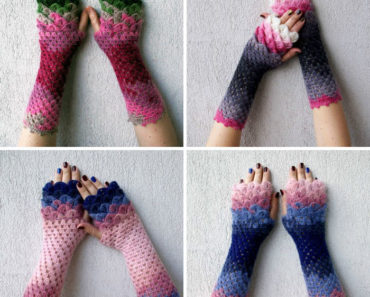 gants de dragon en crochet