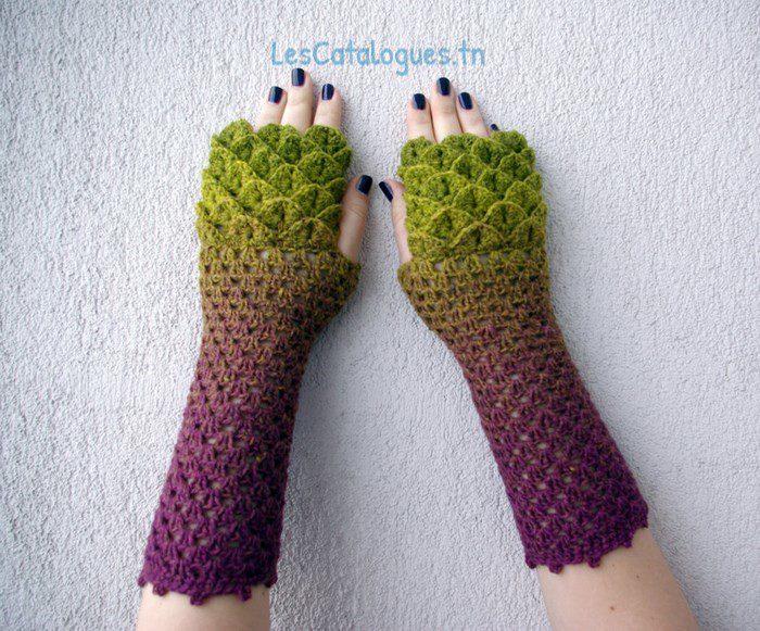 gants en crochet