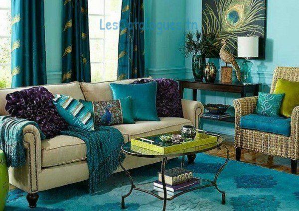 Rideau turquoise