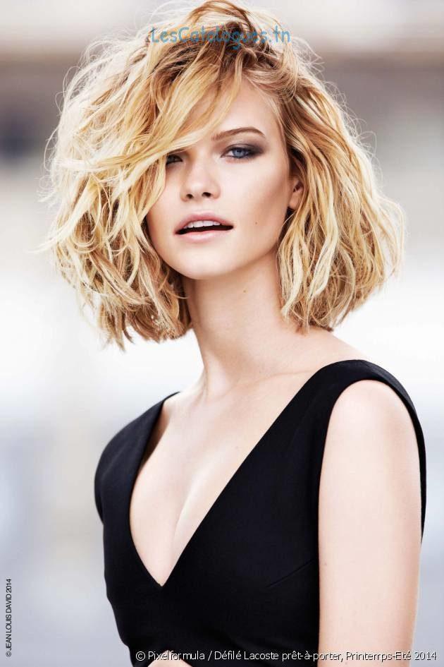 Coupe cheveux carré wavy