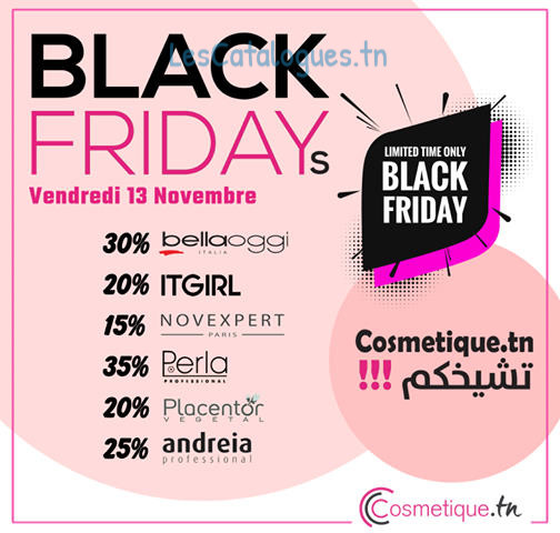 offres black friday chez cosmetique.tn